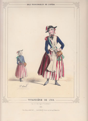 Costumi dell' Opera di Parigi, Vivandiera, 1860