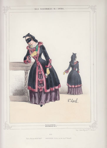 Costumi dell'Opera di Parigi, Domino, 1860