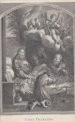 Annibale Carracci, San Francesco morente, 1600