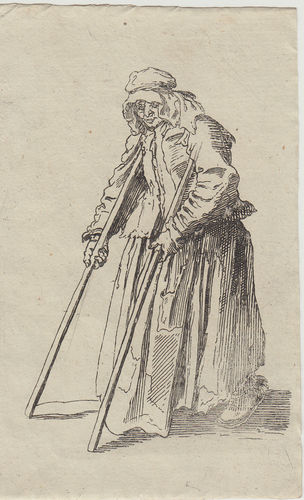 Jacques Callot, (Nancy 1594-1635)  Una Mendicante