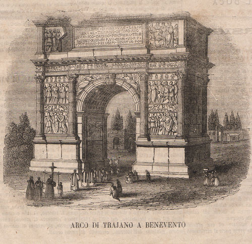 Benevento, Arco Traiano, 1865