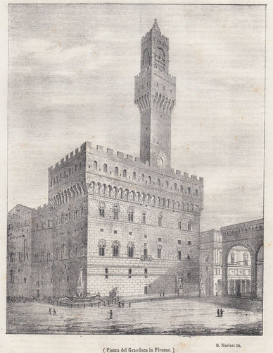 Firenze, Piazza del Granduca, 1845