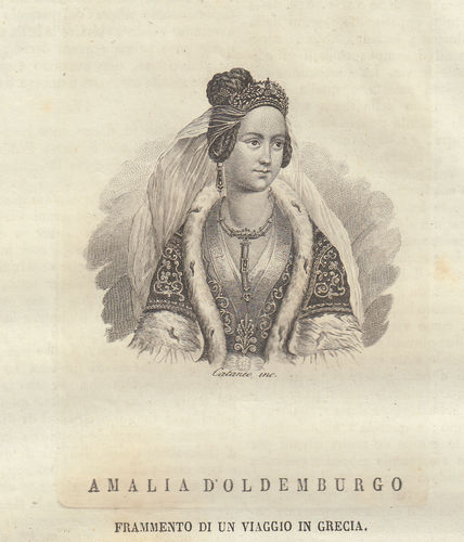 Amalia di Oldenburg, 1838