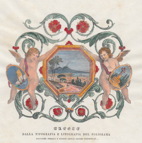 Fantasia decorativa su Napoli, 1837