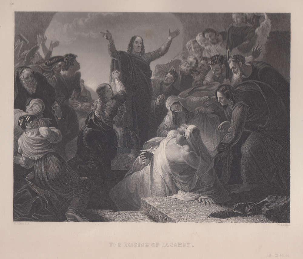 La Risurrezione di Lazzaro, W.Hilton, 1846 - La Stampe Antiche