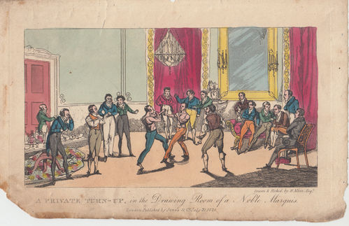 A Private Turn-Up, Boxe, 1821