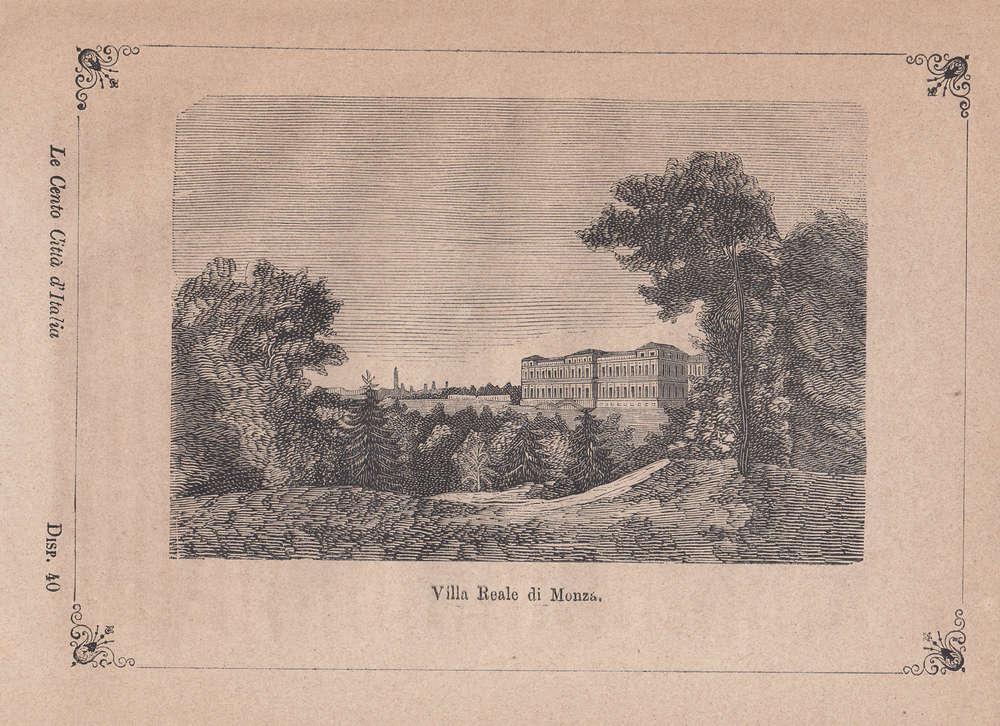 Stampa Antica Lombardia Modicia 1891 Monza: la Villa Reale Brianza