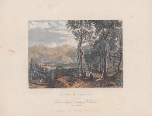 Sorrento, Acquaforte acquarellata, 1850