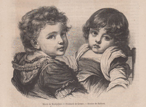 Bambini- Musee Montpellier da Greuze. 1857