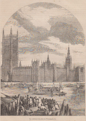 Westminster . Il Parlamento inglese.1854